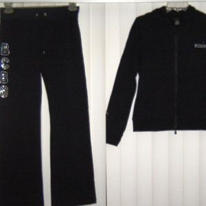 Beautiful black rhinestones sweatsuit